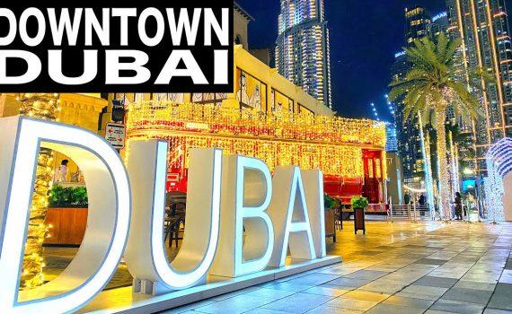 Downtown Dubai Complete Night Walk | 4K | Dubai Tourist Attraction
