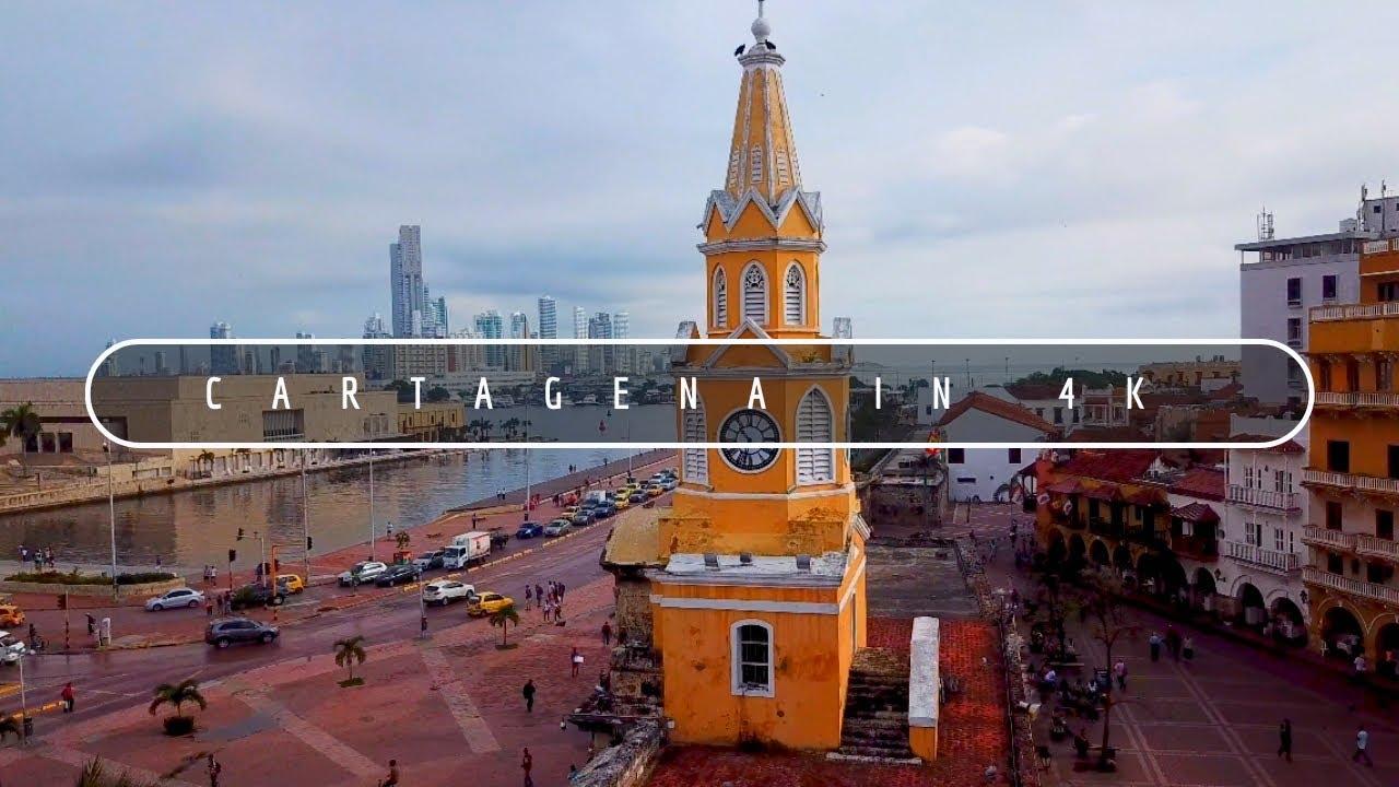 cartagena colombia  -  cartagena 4k drone view , colombia