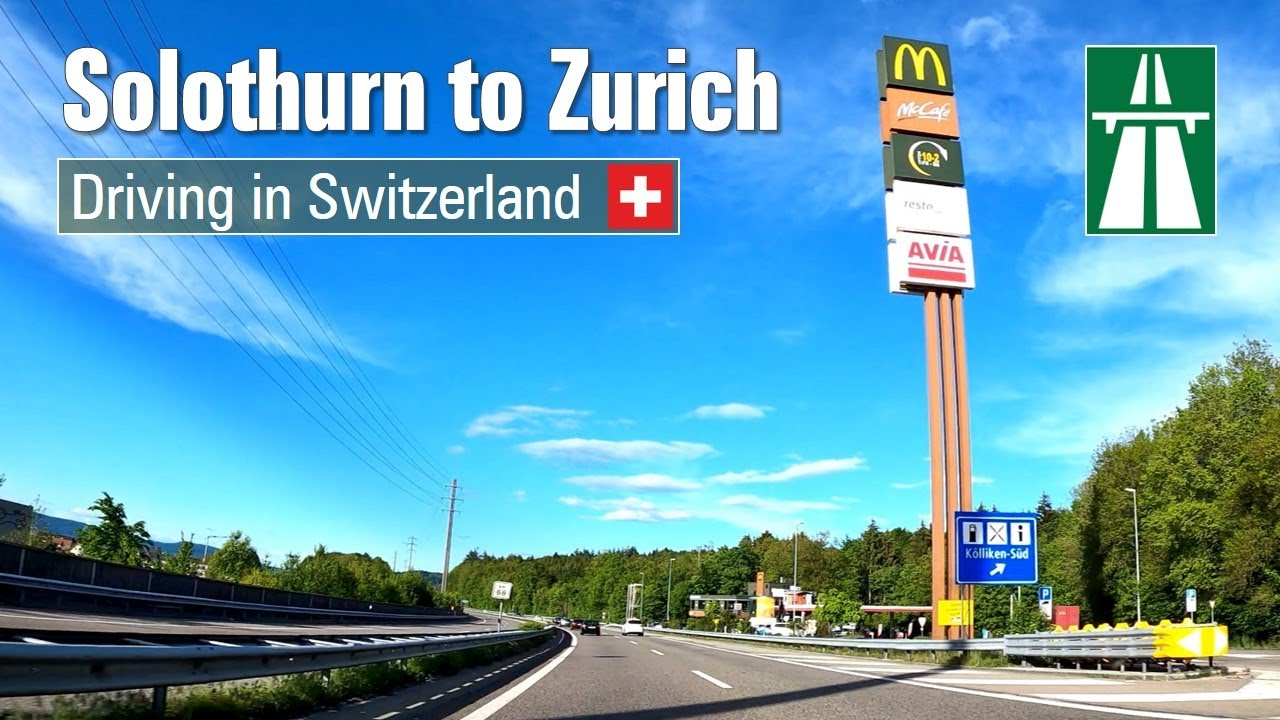 Driving in Switzerland  from Solothurn to Zurich [4K] – Fast Motion ...