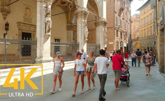 Virtual Walking Tour in 4K 60fps - Cities of Tuscany - Trip to Italy -...