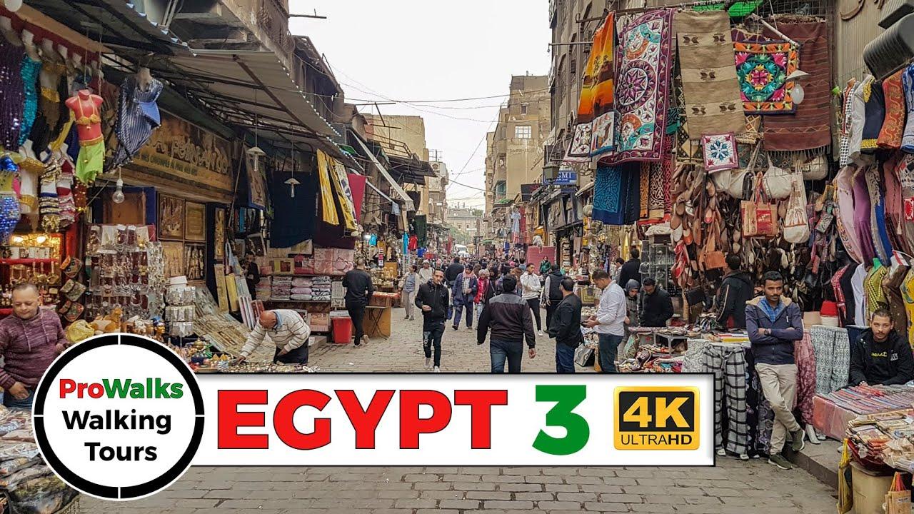 Cairo's Khan el-Khalili Walking Tour (4K/60fps)